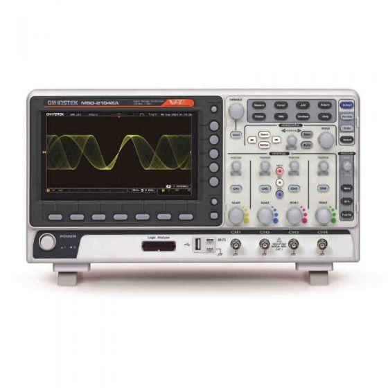 GW Instek MSO-2204EA 200 MHz 4-Channel Digital Storage Oscilloscope