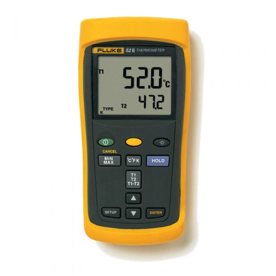 Fluke 52 Series II Digital Thermocouple Thermometer