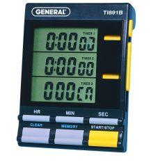 General Tools TI891B Triple Timer with Clock TI891B