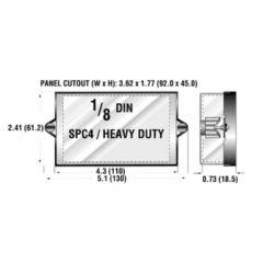Newport SPC4 1/8 DIN NEMA-4 Splash Proof Lens Cover SPC4