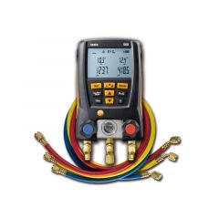 Testo 550 Digital Manifold Kit with Bluetooth and Set of 3 Hoses 0563 2550